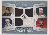 Sidney Crosby, Joe Thornton, Vincent Lecavalier, Dany Heatley #/10