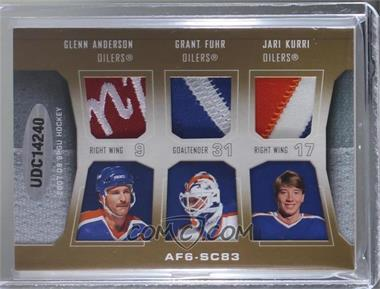 2007-08 SP Game Used Edition - Authentic Fabrics Six - Patch #AF6-SC83 - Bryan Trottier, Mike Bossy, Denis Potvin, Glenn Anderson, Grant Fuhr, Jari Kurri /5