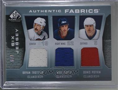 2007-08 SP Game Used Edition - Authentic Fabrics Six #AF6-SC83 - Bryan Trottier, Glenn Anderson, Grant Fuhr, Jari Kurri, Mike Bossy, Denis Potvin /7
