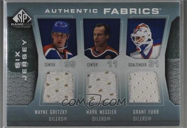 2007-08 SP Game Used Edition - Authentic Fabrics Six #AF6-SC84 - Wayne Gretzky, Mark Messier, Grant Fuhr, Mike Bossy, Billy Smith, Denis Potvin /7