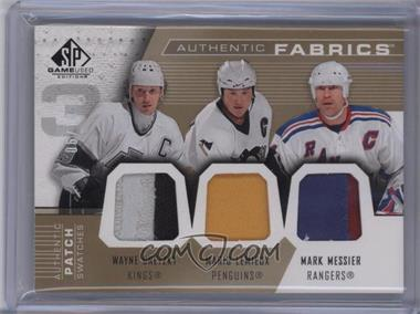 2007-08 SP Game Used Edition - Authentic Fabrics Triple - Patch #AF3-LGM - Wayne Gretzky, Mario Lemieux, Mark Messier /10 [Noted]