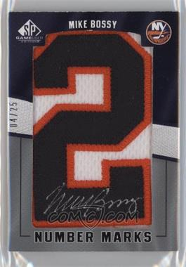 2007-08 SP Game Used Edition - Number Marks - [Autographed] #NM-MB - Mike Bossy /25