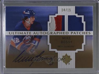 2007-08 Ultimate Collection - Autographed Patches #AJ-BO - Mike Bossy /15