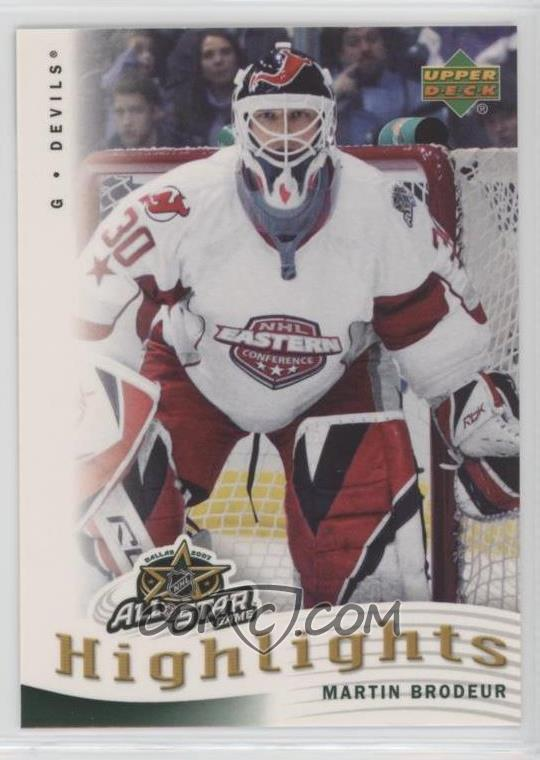 2007 08 Upper Deck All Star Highlights As 18 Martin Brodeur