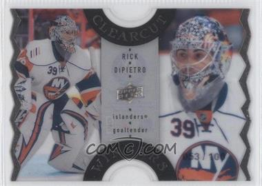 2007-08 Upper Deck - Clear Cut Winners #CCW68 - Rick DiPietro /100