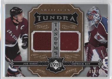 2007-08 Upper Deck Artifacts - Tundra Tandems #TT-JP - Joe Sakic, Patrick Roy /125
