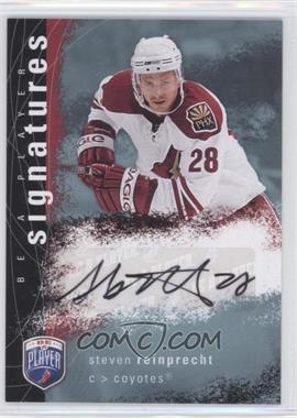 2007-08 Upper Deck Be a Player - Signatures - [Autographed] #S-SR - Steve Reinprecht