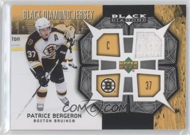 2007-08 Upper Deck Black Diamond - Jerseys #BDJ-BE - Patrice Bergeron