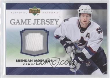 2007-08 Upper Deck Series 1 - Game Jersey #J-BM - Brendan Morrison
