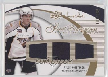 2007-08 Upper Deck Sweet Shot - [Base] #137 - Ville Koistinen /599