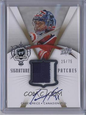 2007-08 Upper Deck The Cup - Signature Patches #SP-CP - Carey Price /75 [Noted]
