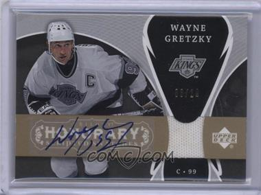2007-08 Upper Deck Trilogy - Honorary Scripted Swatches #SS-WG - Wayne Gretzky /10