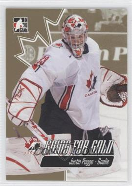 2007 In the Game Going for Gold World Junior Championships - [Base] #29 - Justin Pogge