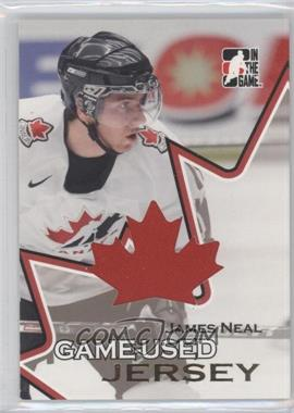 2007 In the Game Going for Gold World Junior Championships - Game-Used Material - Jersey #GUJ-16 - James Neal
