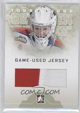 2008-09 In the Game Between the Pipes - Game-Used Jersey #GUJ-16 - Torrie Jung /90