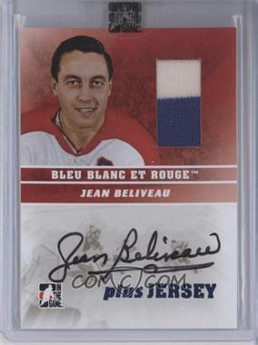 2008-09 In the Game Bleu Blanc et Rouge - Auto Plus Jersey - Bleu #AP-JB - Jean Beliveau