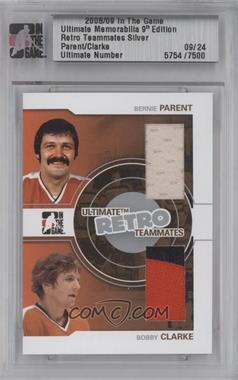 2008-09 In the Game Ultimate Memorabilia 9th Edition - Retro Teammates - Silver #BPBC - Bernie Parent, Bobby Clarke /24