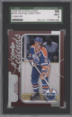 2008-09 O-Pee-Chee - [Base] #584 - Legends - Wayne Gretzky [SGC9MINT]