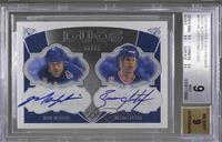Mark Messier, Brian Leetch /75 [BGS 9]
