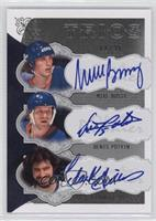 Mike Bossy, Denis Potvin, Clark Gillies #/35