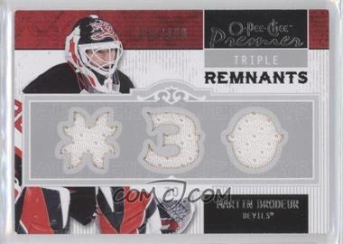 2008-09 O-Pee-Chee Premier - Triple Remnants #PR-MB - Martin Brodeur