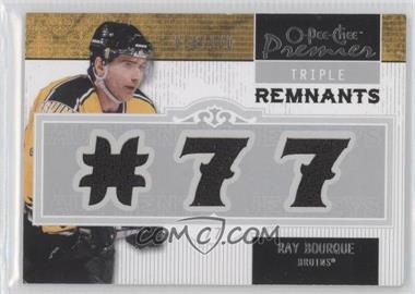 2008-09 O-Pee-Chee Premier - Triple Remnants #PR-RB - Ray Bourque /100