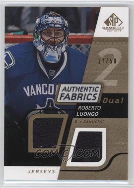 2008-09 SP Game Used Edition - Authentic Fabrics Dual - Gold #AF-LG - Roberto Luongo /50