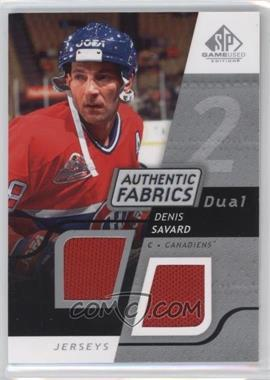 2008-09 SP Game Used Edition - Authentic Fabrics Dual #AF-DS - Denis Savard