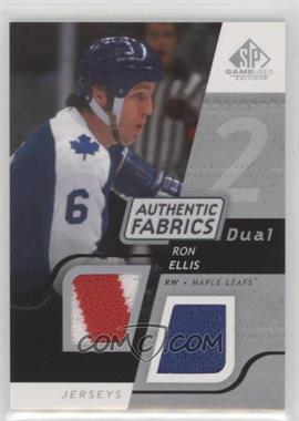 2008-09 SP Game Used Edition - Authentic Fabrics Dual #AF-RE - Ron Ellis