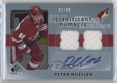 2008-09 SP Game Used Edition - Significant Numbers #SN-PM - Peter Mueller /88
