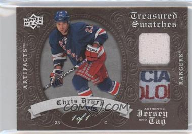 2008-09 Upper Deck Artifacts - Treasured Swatches - Jersey/Tag #TSD-CD - Chris Drury /1