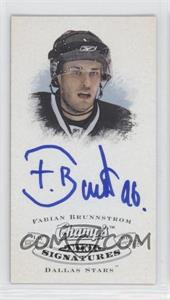 2008-09 Upper Deck Champ's - Mini Signatures #CS-FB - Fabian Brunnstrom