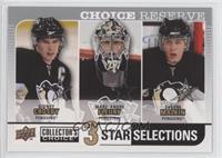 Sidney Crosby, Marc-Andre Fleury, Evgeni Malkin
