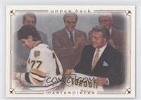 Ray Bourque (Phil Esposito Holding His Jersey)