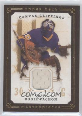 2008-09 Upper Deck Masterpieces - Canvas Clippings - Brown Border #CC-RV1 - Rogie Vachon