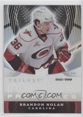 2008-09 Upper Deck Trilogy - [Base] #153 - Brandon Nolan /999
