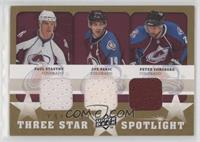 Paul Stastny, Peter Forsberg, Joe Sakic