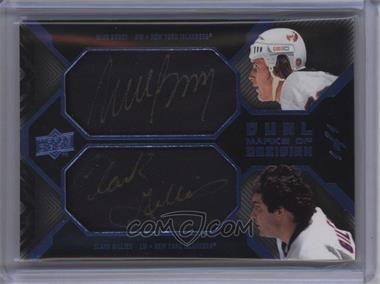 2008-09 Upper Deck UD Black - Dual Marks of Obsidian - Blue #MO2-BG - Mike Bossy, Clark Gillies /1