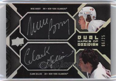 2008-09 Upper Deck UD Black - Dual Marks of Obsidian #MO2-BG - Mike Bossy, Clark Gillies /25