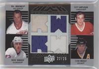 Gordie Howe, Guy Lafleur, Mike Bossy, Cam Neely #/25