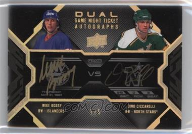 2008-09 Upper Deck UD Black - Game Night Ticket Autographs Dual - Gold #GN2-MD - Mike Bossy, Dino Ciccarelli /5