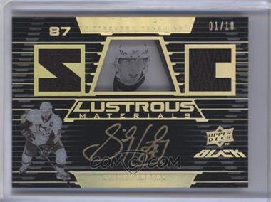 2008-09 Upper Deck UD Black - Lustrous Materials - Patch #LM2-SC - Sidney Crosby /10
