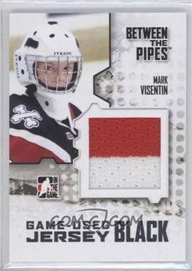 2009-10 In the Game Between the Pipes - Game Used Material - Jersey Black #M-43 - Mark Visentin /130