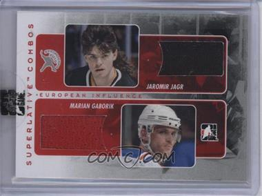 2009-10 In the Game Superlative Volume 2 - 2010 Spring Expo Combo Redemption - Silver #SC-113 - Jaromir Jagr, Marian Gaborik /9 [Uncirculated]