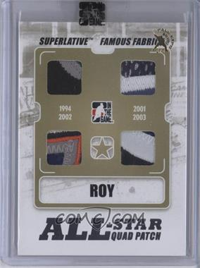 2009-10 In the Game Superlative Volume 2 - Famous Fabrics All-Star Quad Patch - Silver Fall Expo #AS-10 - Patrick Roy /1
