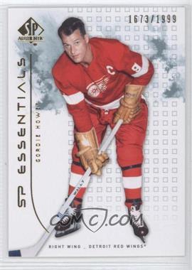2009-10 SP Authentic - [Base] #113 - Gordie Howe /1999