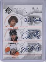Simon Gagne, Mike Richards, Bobby Clarke /25