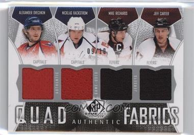 2009-10 SP Game Used Edition - Authentic Fabrics Quad #AF4-ROCB - Alex Ovechkin, Nicklas Backstrom, Mike Richards, Jeff Carter /10