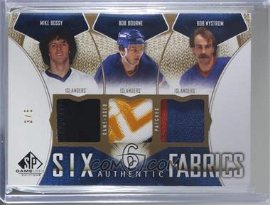 2009-10 SP Game Used Edition - Authentic Fabrics Six - Patch #AF6-NYCUP - Glenn Anderson, Brian Leetch, Bob Bourne, Bob Nystrom, Mark Messier, Mike Bossy /5