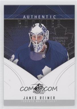 2009-10 SP Game Used Edition - [Base] #157 - Authentic Rookies - James Reimer /699
